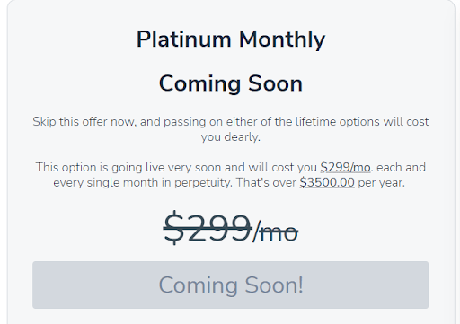 Platinum Monthly Plan