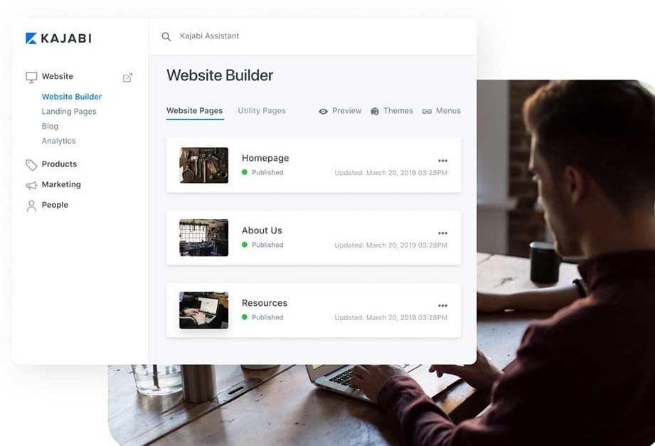 kajabi page builder