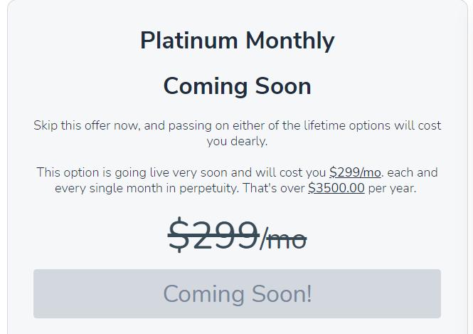 Platinum Monthly Plan