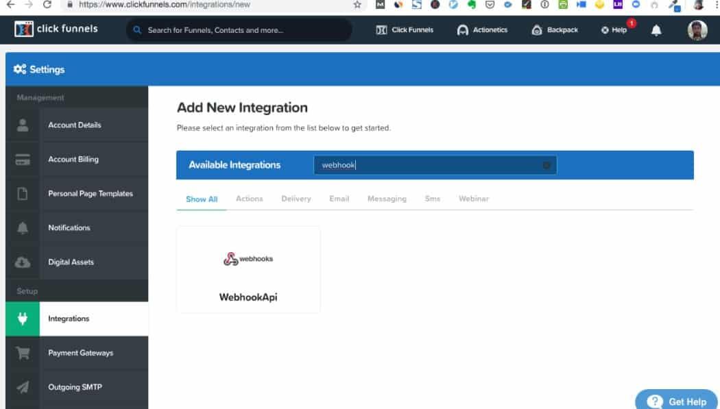 clickfunnel mail integration