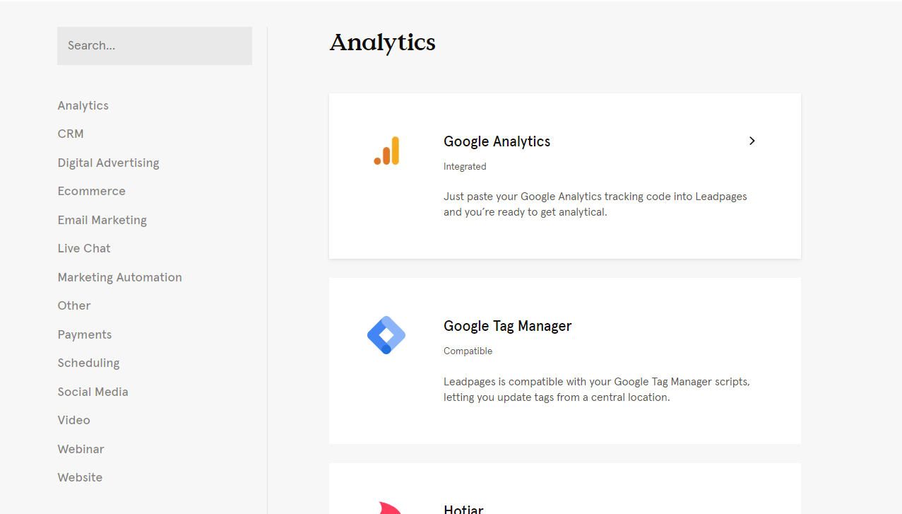 Leadpages APIs